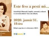 Este fess a pesti nő - Kárász Eszter és zenekara koncert