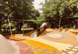 Bányászati tematikájú játszótér nyílt a kőbányai Óhegy parkban