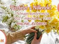 """Nőnapi online konferencia – """"Tisztelet a Nőknek"""""""